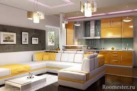 gestaltung einer küche kombiniert mit einem wohnzimmer