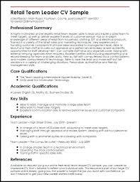 Team Leader Resume Leadership Samples Sample Cover Letter