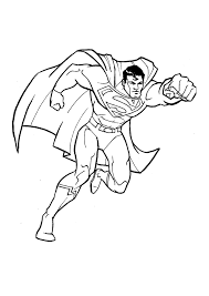 Great Superman Coloring Page For Kids