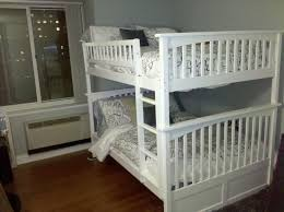 White Full Over Full Bunk Beds With Trundle — Loft Bed Design