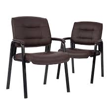 100 Reception Room Chairs Brown Guest Chair Conference Stack Meeting
