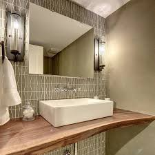 the tile shop a gorgeous powder room featuring the napier glass