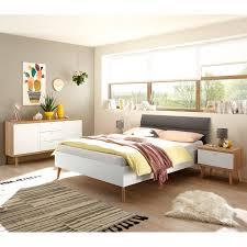 schlafzimmer jugendzimmer set 3 teilig mainz 61 im skandinavien design in eiche riviera weiß matt und grau