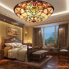 großhandel retro barock runde led deckenleuchte schlafzimmer arbeitszimmer esszimmer treppenhaus flur balkon le europäischen deckenleuchte