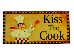 Fat Italian Chef Kitchen Decor by Fat Chef Kitchen Plaque Sign Kiss The Cook Fat Chefs Kitchen