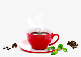 Red Coffee Cup Beans Clipart PNG
