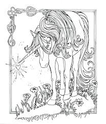 Fairy And Unicorn Coloring Pages For Adults Cute Majestic Page Free Printable Realistic