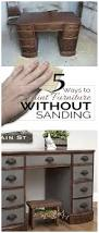 Fixing Hardwood Floors Without Sanding by How To Paint Furniture Without Sanding Salvaged Inspirations