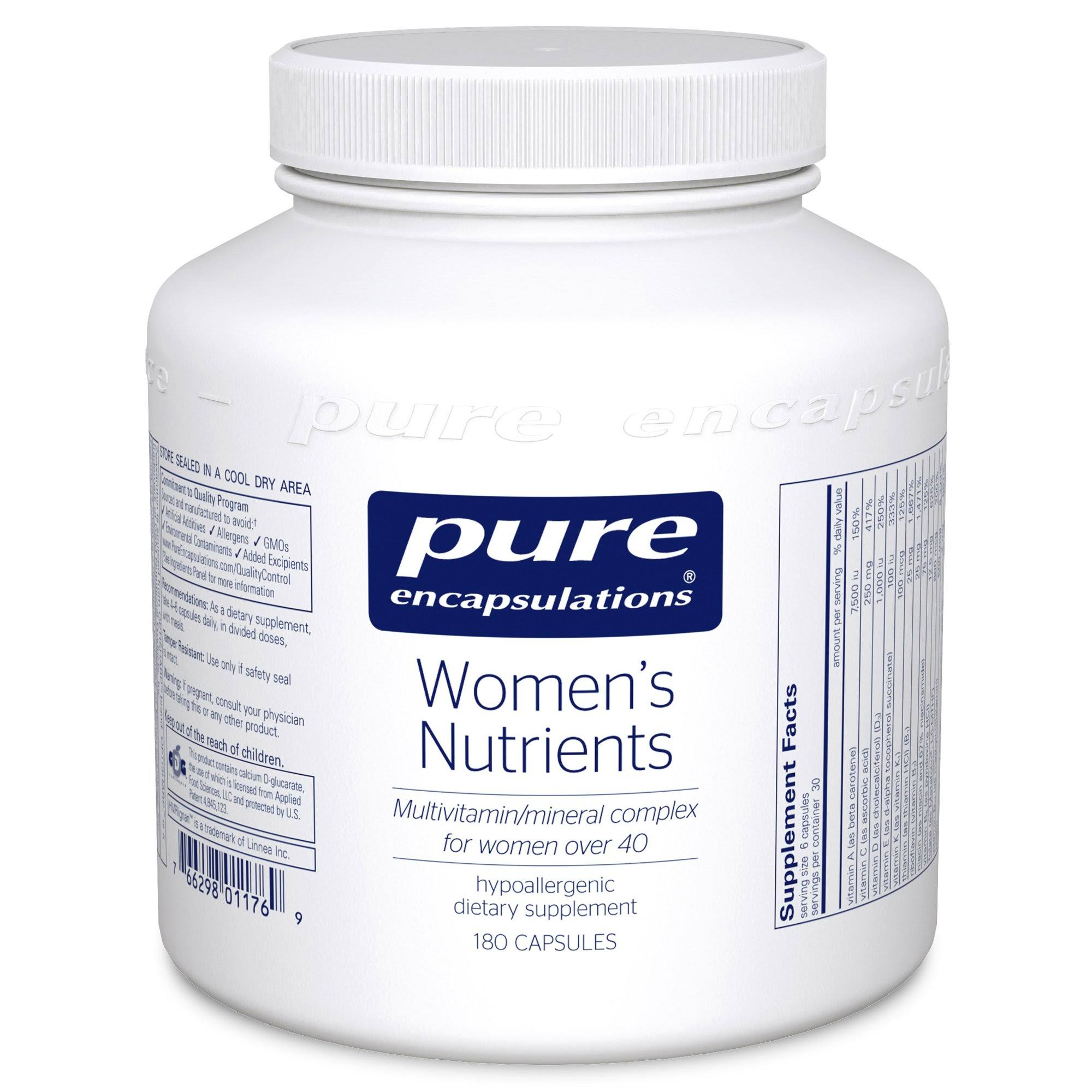 Pure Encapsulations - Women's Nutrients - 180 Capsules