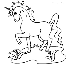 Unicorn Color Page Fantasy Medieval Coloring Pages Plate Sheetprintable