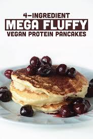 Vegan Bisquick Pumpkin Pancakes by 4 Ingredient Mega Fluffy Vegan Protein Pancakes Vegan