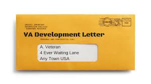 Ebenefits Development Letter Sent  VA Disability Claims Veteran