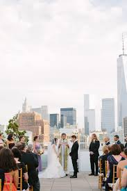 100 Tribeca Rooftops Loretta And Ryan Rooftop Ceremony Vows Floral Design And