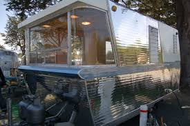 Photo Of Unique Curved Dinette Windows In Vintage 1960 Holiday House Trailer