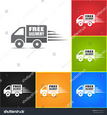 Delivery Trucks Icons Free Delivery Icon Stock Vector (Royalty Free ...