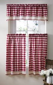 White Kitchen Curtains With Red Trim by Love All The Red Stuff Mom U0027s House Pinterest Love This