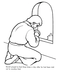 Coloring Pages Boy Praying