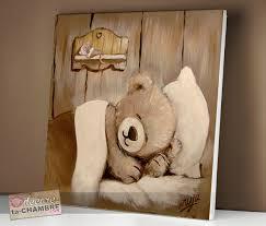 tableau ourson chambre bébé tableau ourson souris pour la déco de bébé vente tableau ourson