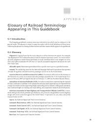 100 Trucking Terminology Appendix C Glossary Of Railroad Appearing In This