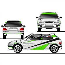 deco voiture de rallye kit déco rallye racing