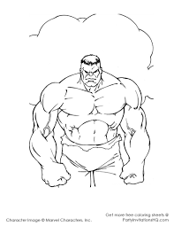 Hulk Clipart Colouring Page Pencil And In Color