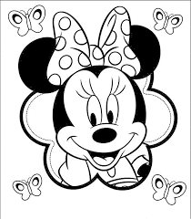 Minnie Mouse Face Coloring Pages Free Download Clip Art