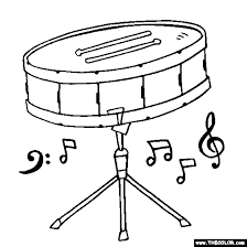 Snare Drum Coloring Page