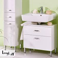livingart waschbecken unterschrank badezimmer unterschrank mit soft technik kosmetikeinsatz