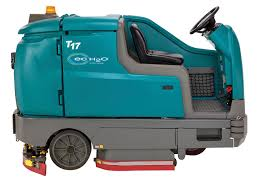 t17 battery powered rider scrubber tennant company scrubbers rider