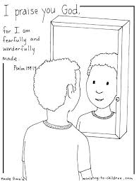 I Am Fearfully Made Psalm 139 Coloring Page Boy Version