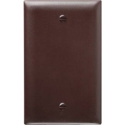 Pass and Seymour Urea Blank Wall Plate - Brown