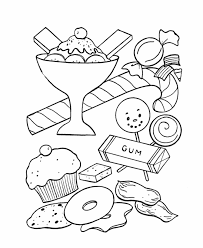 Chocolate Candy Printable Candyland Gumdrop Coloring Page Sweet Treats