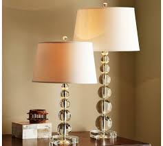 Pottery Barn Floor Lamp Assembly by Stacked Crystal Table U0026 Bedside Lamp Base Pottery Barn