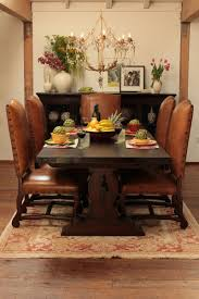 I Like The Leather Chairs, And The Dark Wood Table. | Dining ...
