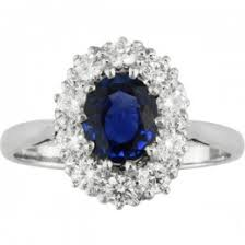 Vintage Style Sapphire And Diamond Cluster Engagement Ring