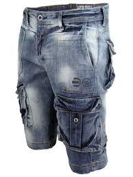 mens denim jean cargo shorts crosshatch u0027cult u0027 retro vintage wash
