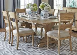 4 Piece Dining Room Sets by Harbor View Trestle Table 5 Piece Dining Set In Sand Finish By