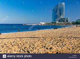 100 The W Hotel Barcelona Spain View Of The Barceloneta Beach With The Catalonia