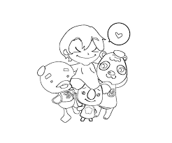 11 Animal Crossing Coloring Page