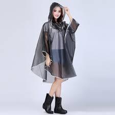 women packable eva hiking cycling hooded raincoat travel rain cape
