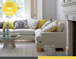 Grey And Yellow Sofa