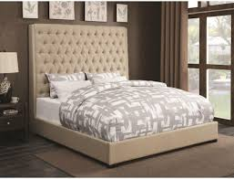 Coaster Upholstered Beds Upholstered Queen Bed with Diamond