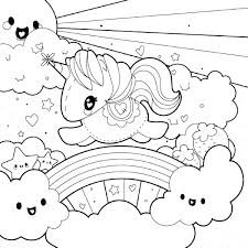 Inside Out Coloring Pages Printable Unicorn Rainbow Kids Color