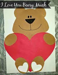 Much Valentine Bear Craft For Kids Crafty Morningrhcraftymorningcom Heart Snail Art Project Cute Love Paper