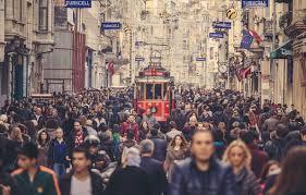 Photo Wallpaper People Istanbul Crowd Cityscape Tram Urban Scene Turkey