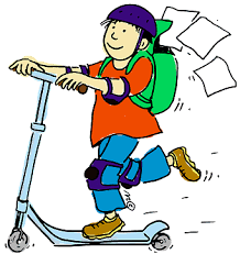 Boy On Scooter Clipart