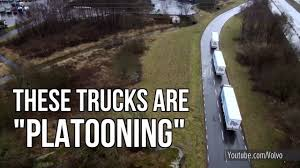 Platoons Will Make Trucking Safer & More Efficient - YouTube