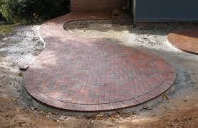 brick patio design ideas circular patio with pine brick pavers like the shape but not