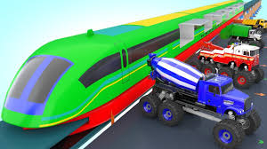 Bullet Train Transporting Monster Truck Wheels For Kids To Learn ... Monster Truck Stunt Videos For Kids Trucks Nice Coloring Page For Kids Transportation Learn Colors With Cute Tires Parking Carl The Super And Hulk In Car City Cars Garage Game Toddlers Cartoon Original Muddy Road Heavy Duty Remote Control Vehicles 2 Android Free Download 4 Police Racing Games Tap A Monster Truck Big Big Ideas Group Watch Creech On Roof Exclusive Movie Clip
