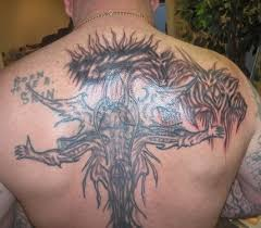 Big Gothic Tattoo On Back